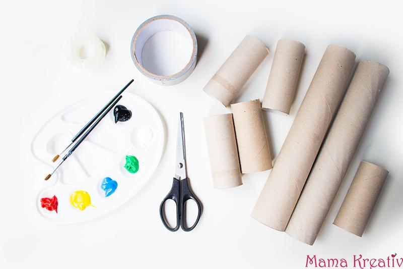 6 Kreative Spiele Mit Klopapierrollen Basteln Mama Kreativ