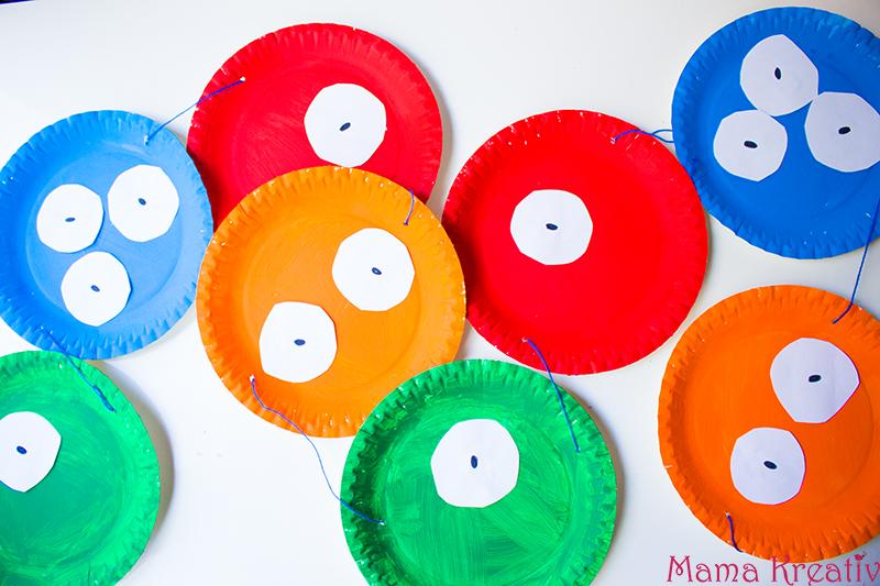 Monster Geburtstag: Spiele, Deko und Rezepte für Kinder Girlande aus Papptellern