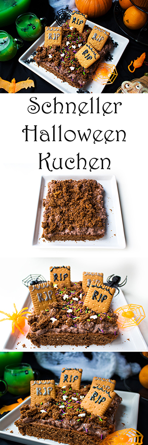 Halloween Party Rezepte - Halloween Kuchen aus Brownie - schnell und einfach