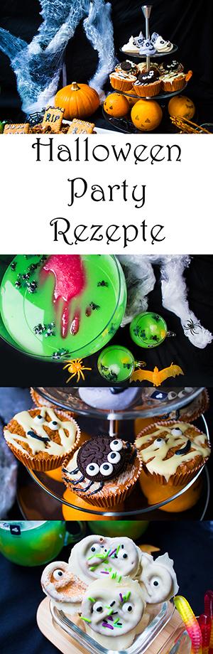 Halloween Party Rezepte: 8 schnelle und einfache Ideen. Kuchen, Muffins, gruselige Bowle, Baiser Geister und viel mehr!