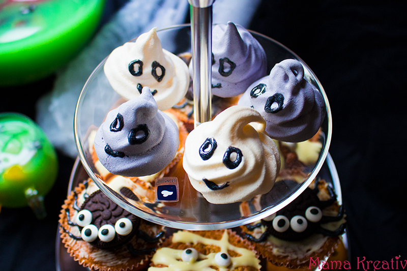 Halloween Party Rezepte Baiser Geister Gespenster