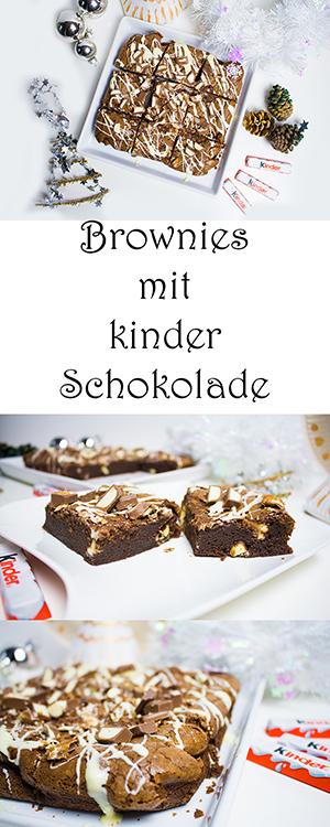 Brownies mit kinder Schokolade selber machen Rezept