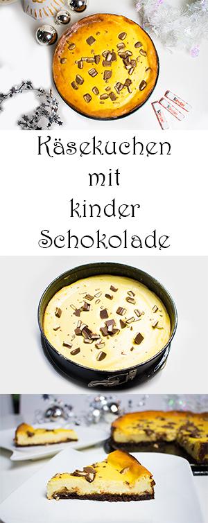 Käsekuchen mit kinder Schokolade selber machen Rezept