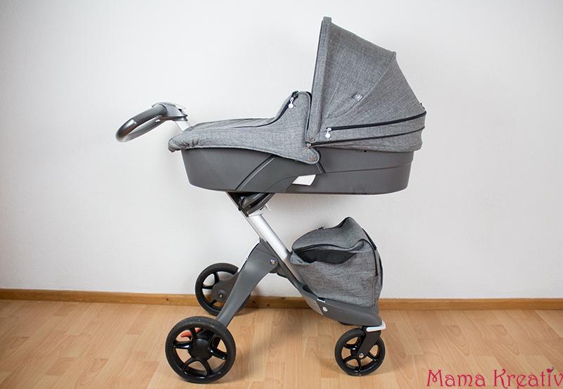 Der Stokke Xplory V5 im Test mit Baby und Kleinkind Kombikinderwagen mit Zubehör Babyschale Kindersitz Autositz Winter Kit Wickeltasche Erfahrungen und Funktionen