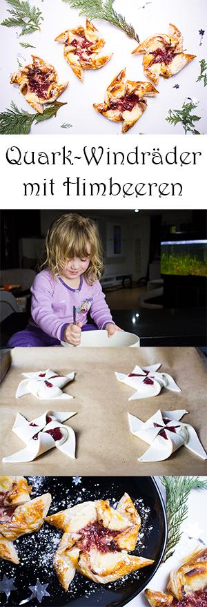 Backen mit Kindern - ein schnelles und einfaches Rezept für Quark-Windräder mit Himbeeren aus Blätterteig