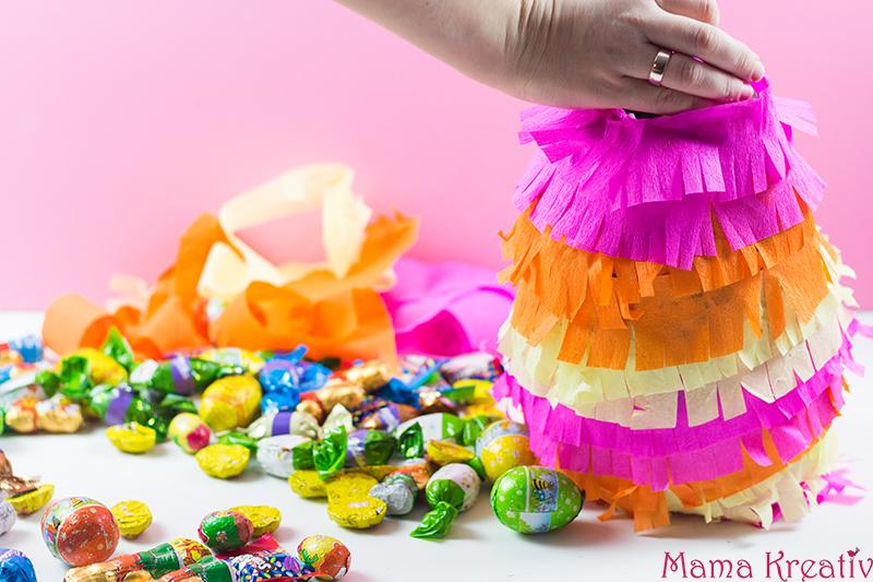 Osterei-Piñata basteln - basteln mit Kindern zu Ostern - Osternest Alternative