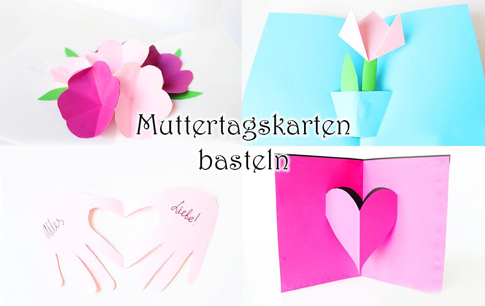 Pop-Up Muttertagskarten basteln - Geschenkidee zum Muttertag mit Kindern basteln aus Papier