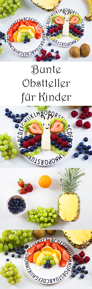 Snacks für Kinder - Bunte Obstteller für Kinder - Ideen für Nachmittagssnacks