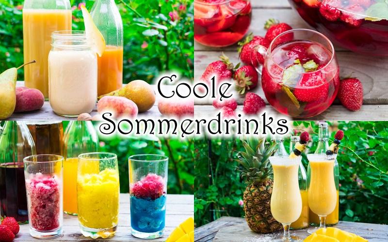 Coole Sommer Drinks - eifache alkoholfreie Cocktails für Kinder und Mamas - sommerliche Rezepte - kochen für Kinder