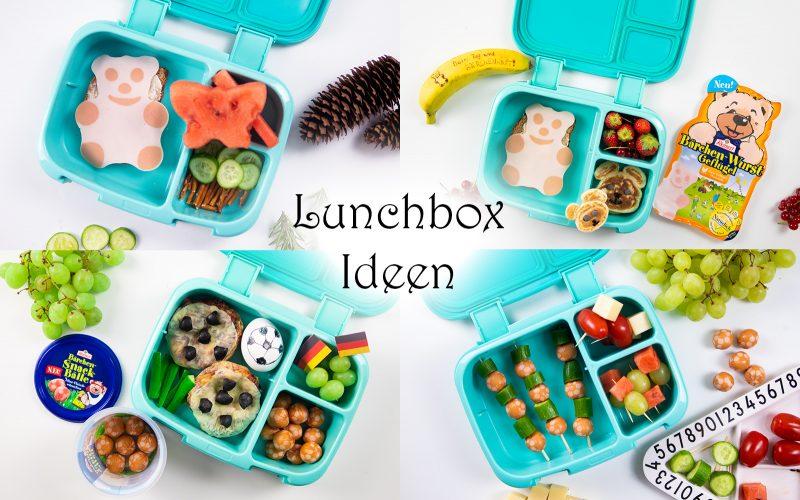 Einfache Lunchbox Ideen für Kinder Brotdosen Vesper Schule Kindergarten