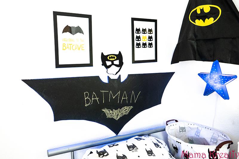 DIY Kreidetafel-Nachtlicht und Batman Kinderzimmer Deko — Mama Kreativ