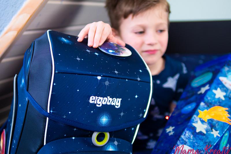 Schultasche für den Weltraum - Bastelraum - kostenlose Vorlagen für Ergobag Cubo Kobärnik Glow