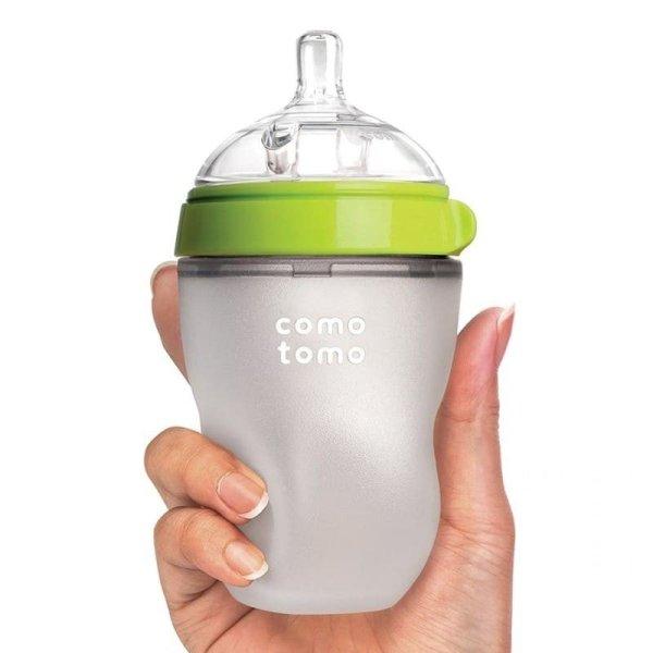 Comotomo EVOLVED 4 vnt. buteliukų ir žindukų rinkinys, Green