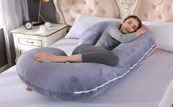 C formos nėštumo ir žindymo pagalvė, 135x65 cm