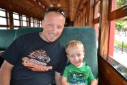 First real train ride