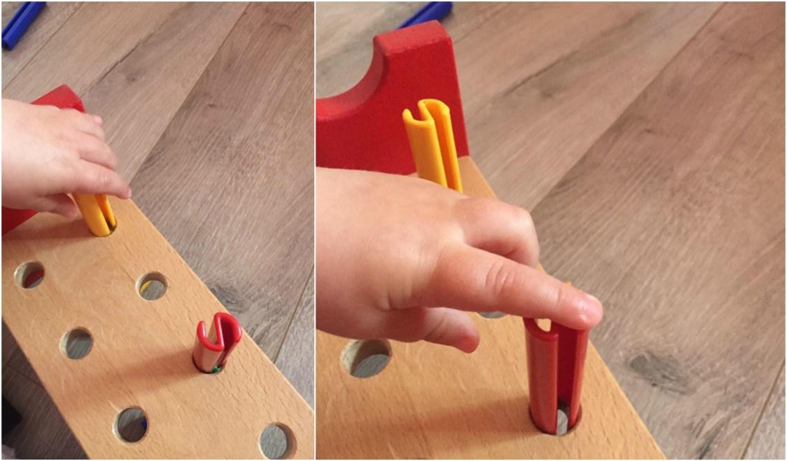 игра - поставяне на предмети с подръчни материали,фината моторика, развиващи игри