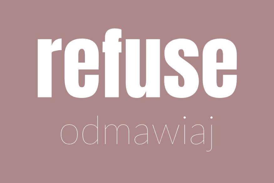 refuse odmawiaj 7r mama less waste