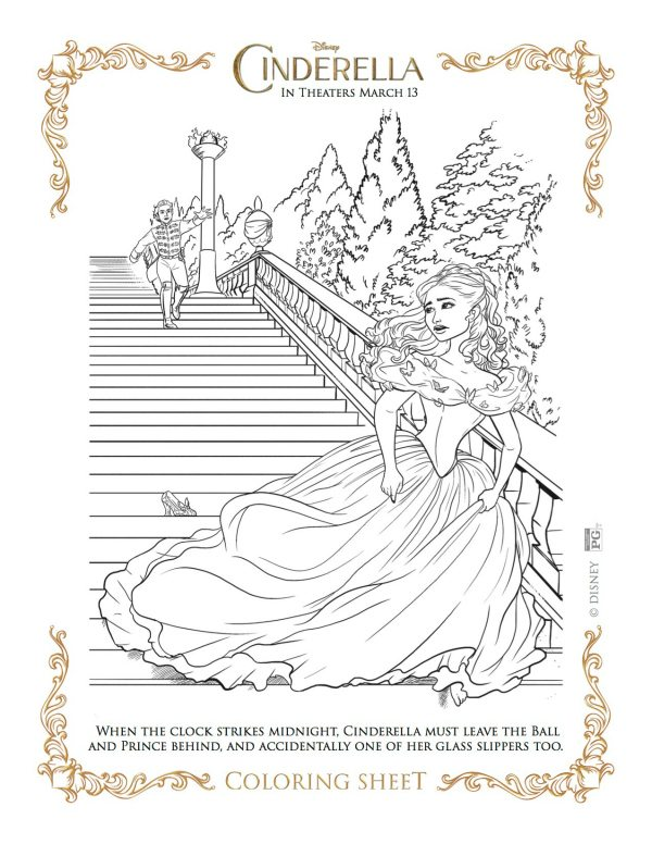 Free Printable Cinderella Coloring Page From Disney Mama Likes This
