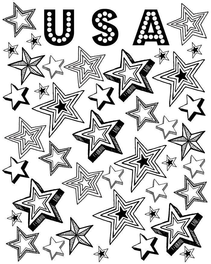 Free Printable Patriotic Stars Coloring Page Mama Likes This