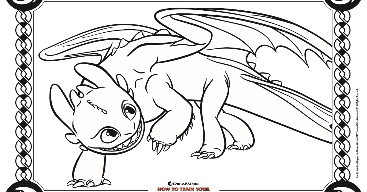 Toothless Coloring Page How To Train Your Dragon 3 Mama Likes This