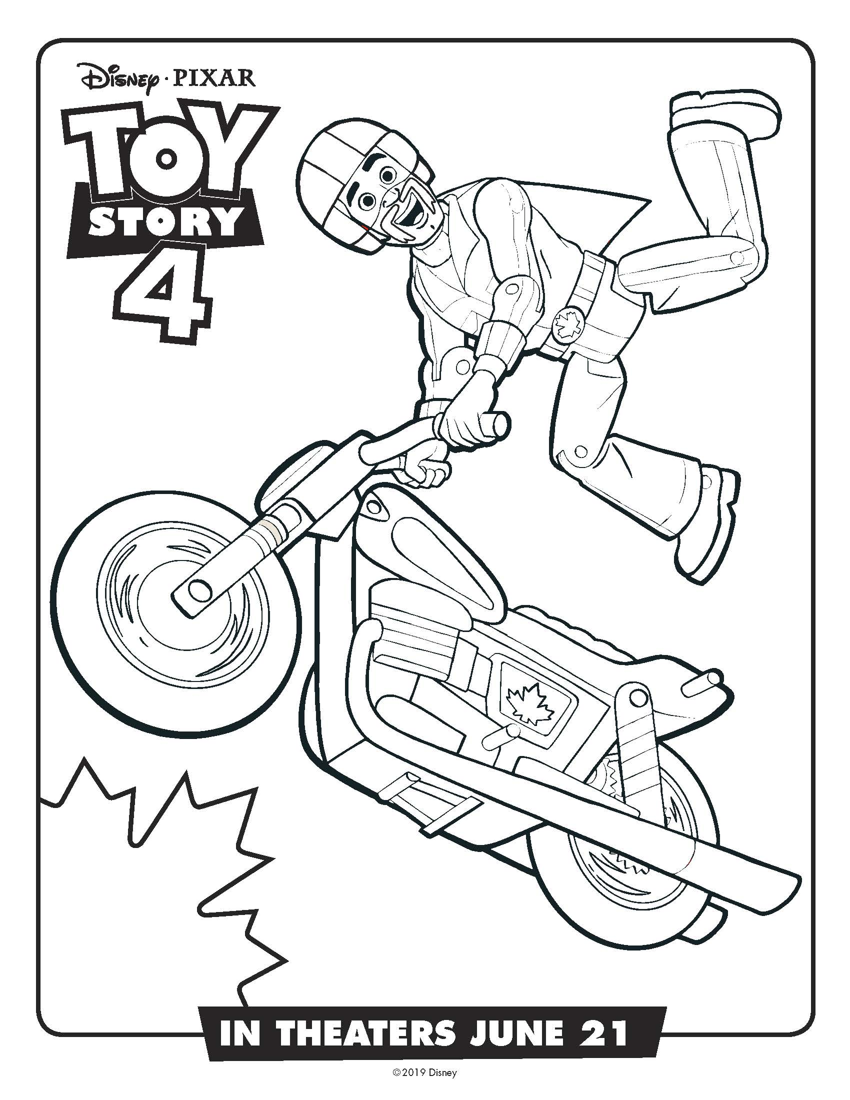 Free Printable Toy Story Duke Caboom Coloring Page Mama Likes This
