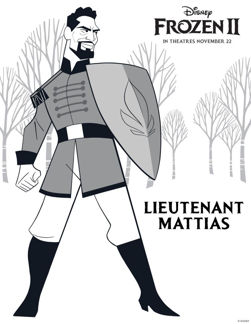 Free Printable Frozen Lieutenant Mattias Coloring Page Mama Likes This