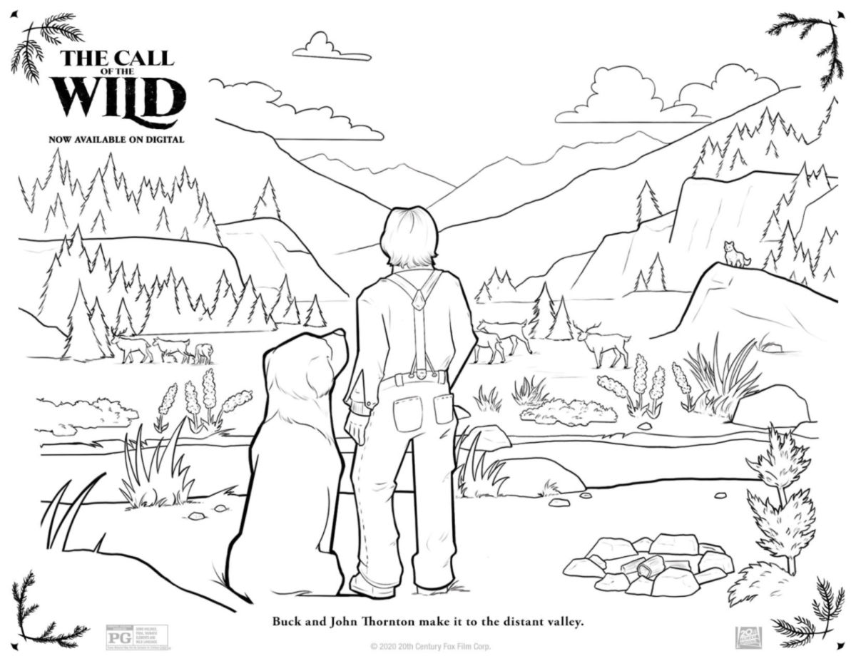 Free Printable Call Of The Wild Coloring Page