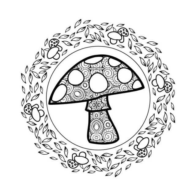 Free Printable Magical Mushroom Coloring Page - Mama Likes This
