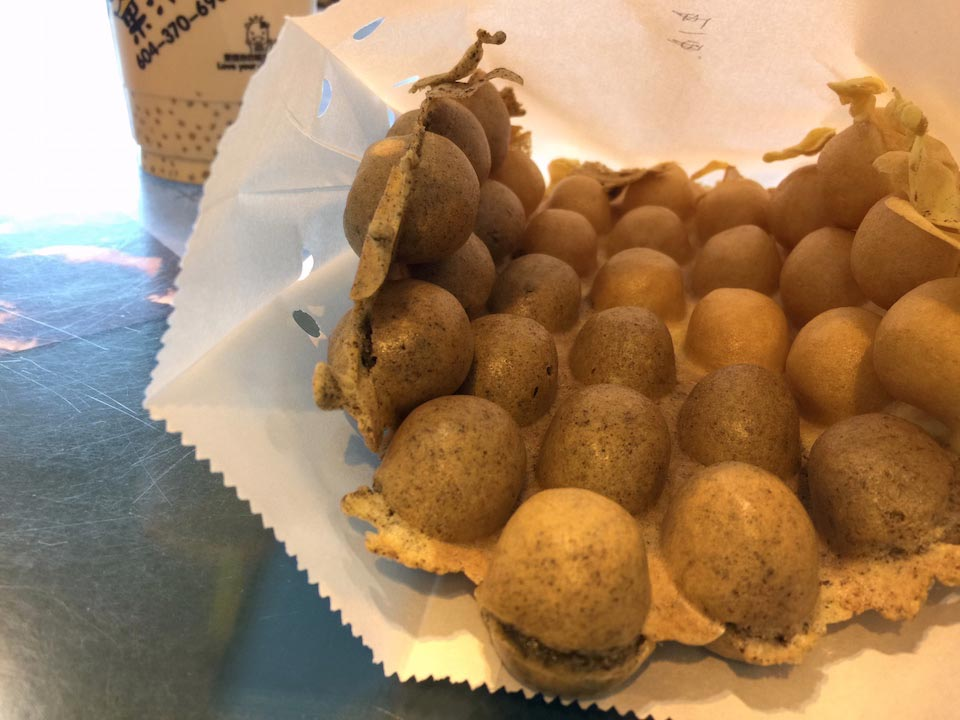 Oreo/Peanut Butter Bubble Waffle