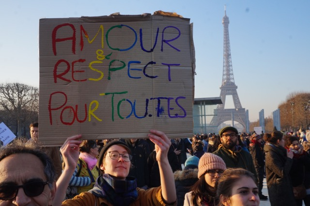 Women's March on Paris in 21 Pictures