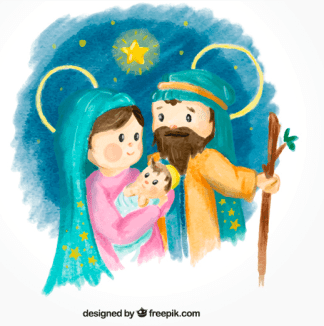 Nacimiento o belénMaría, Jesús y José