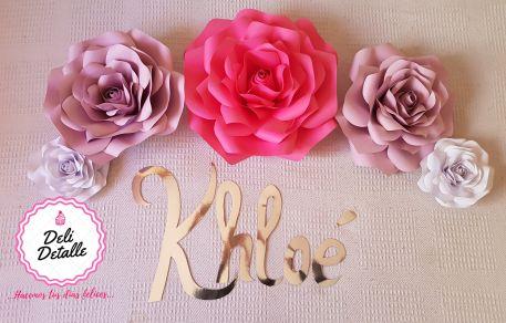 Deli detalle - Rosas y nombre