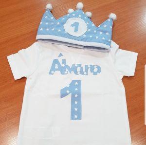 Armario de niñas low-cost.Corona y camiseta personalizada.
