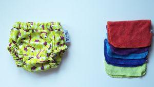 Pañal y recambios de toallitas.