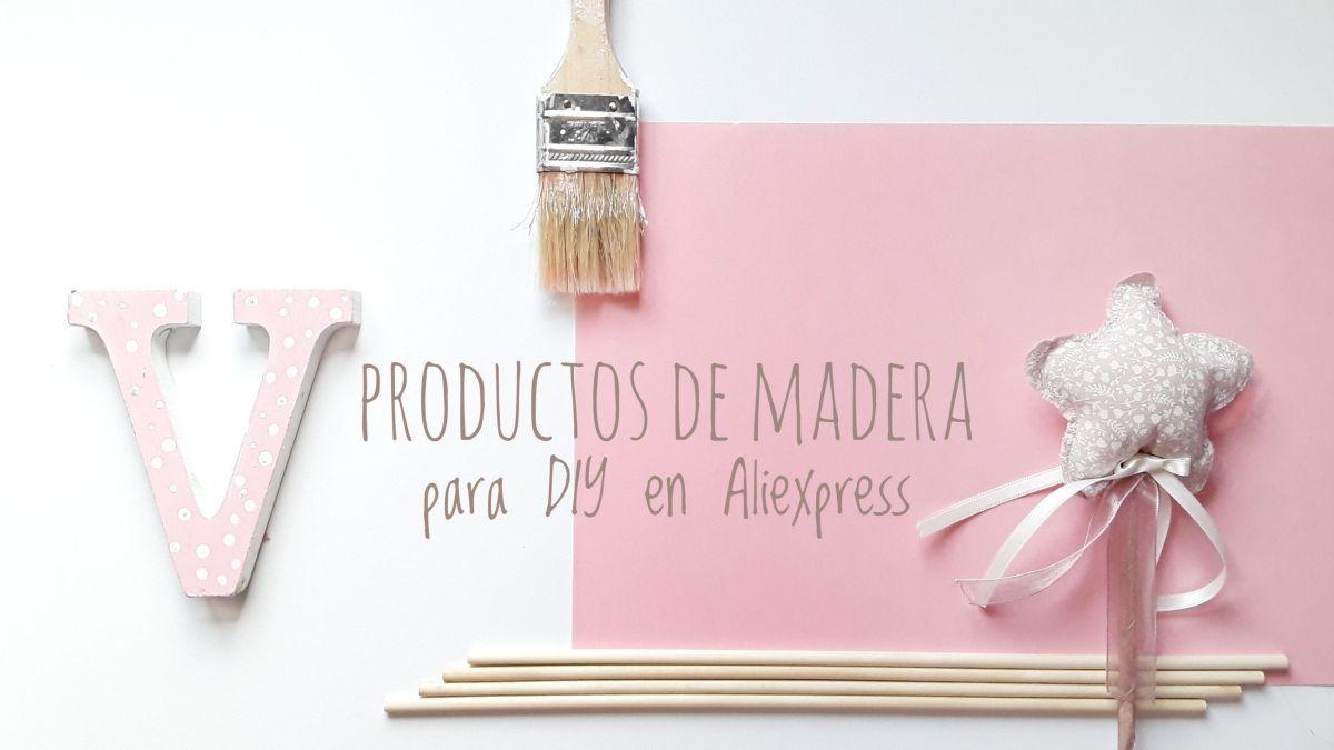 Productos de madera para DIY en Aliexpress