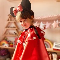 DIY disfraz Minnie Mouse low-cost de invierno.