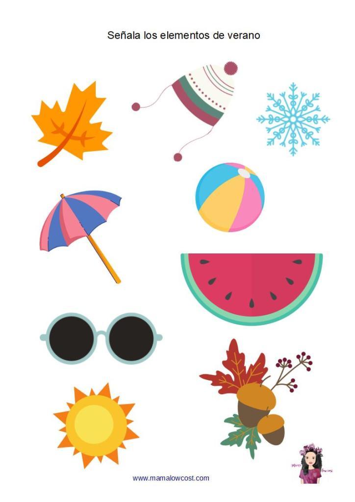 Actividad elementos verano