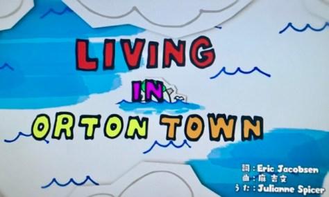 LIVING IN ORTON TOWN えいごであそぼう リビングインオートンタウンの歌詞