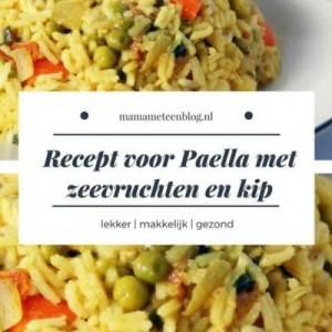 paella recept met zeevruchten en kip mamameteenblog.nl