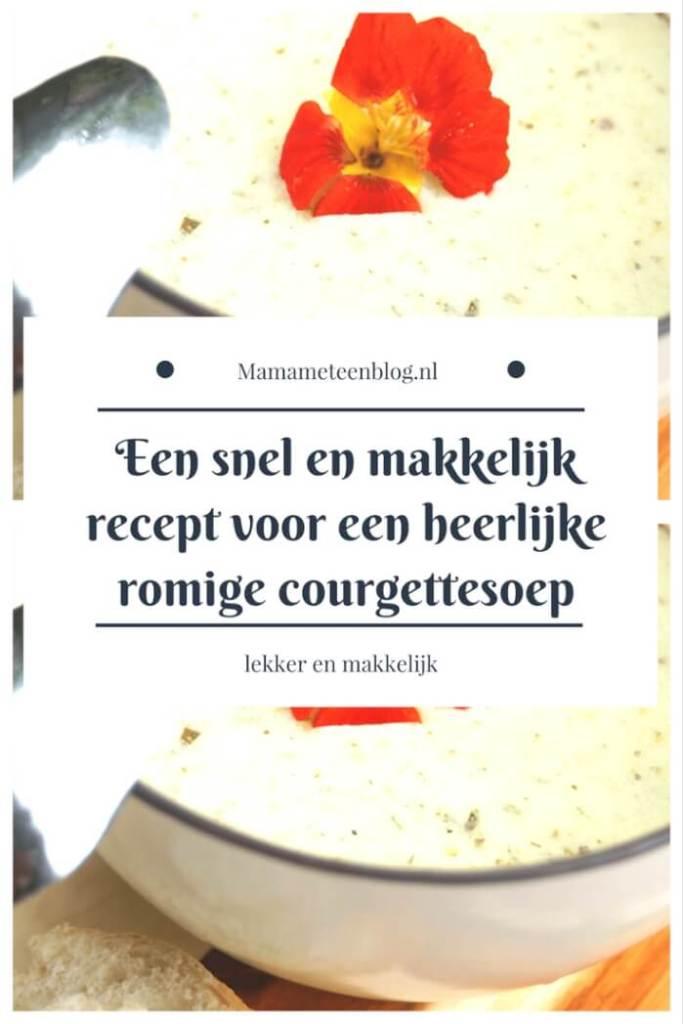 recept romige courgettesoep mamameteenblog.nl