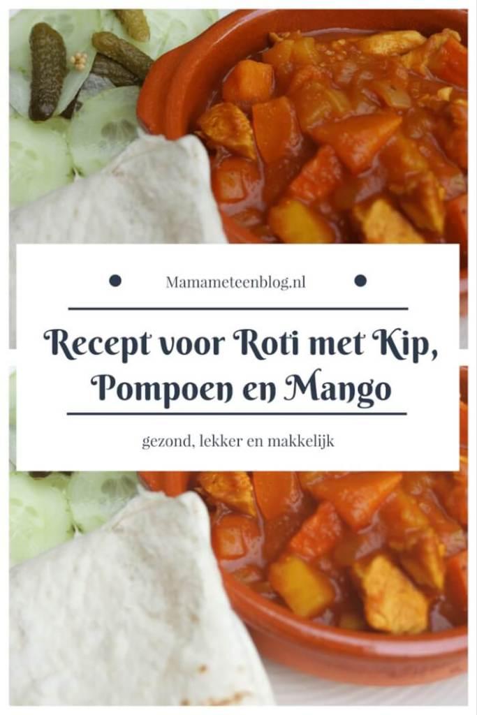 recept roti met kip, pompoen en mango mamameteenblog.nl