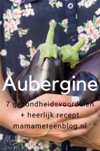Aubergine 7 gezondheidsvoordelen+ recept mamameteenblog.nl