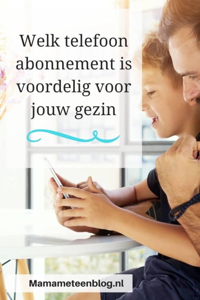Telefoonabonnement gezin mamameteenblog.nl
