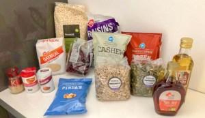 Ingrediënten voor Granola mamameteenblog.nl