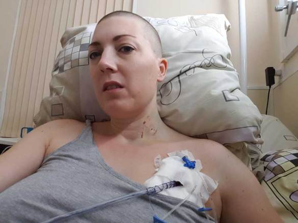 Collapsed lung and surgery and chemo day 4 continues