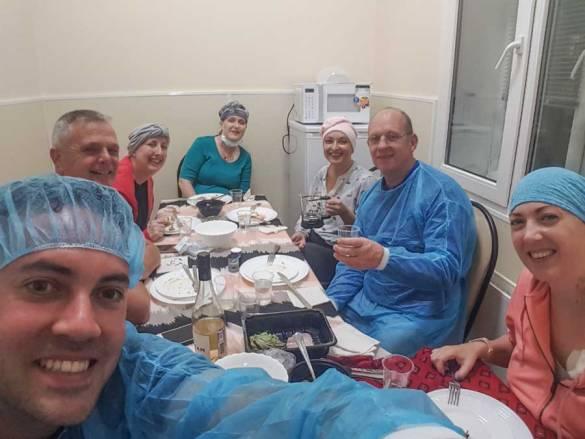 Klaplong en operatie en chemo dag 4 gaat door