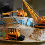 Crane Dump Truck And Digger
