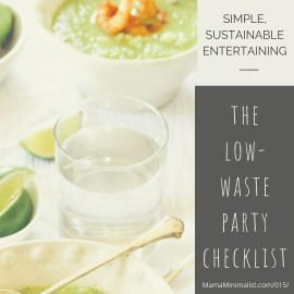 Affordable and sustainable strategies when entertaining a crowd.