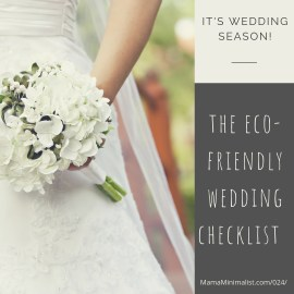 Eco-friendly wedding tips for brides, grooms and guests.