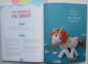 unicorn knutsel met sokken